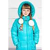 Зимнее детское пальто для девочки очень теплое с капюшоном, фото 3