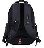 Универсальный Рюкзак Swissgear Men Bag 8810 C Выходом Под USB И AUX, фото 5