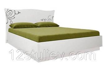 Кровать Богема белая 160*200 с подъемным механизмом и ламелями