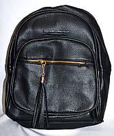 Женский черный рюкзак из искусственной кожи 27*33 см, фото 1