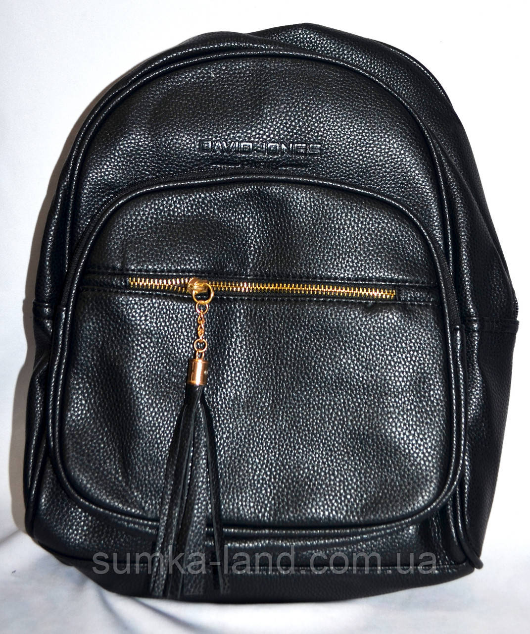 Женский черный рюкзак из искусственной кожи 27*33 см