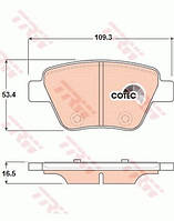Колодки тормозные задние VW Caddy III (TRW) GDB1841