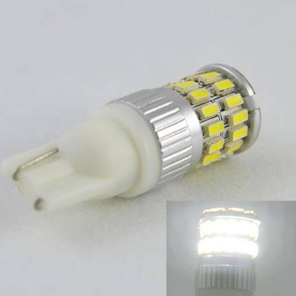 Светодиодная лампа в габарит SLP LED с обманкой под цоколь W5W(T10)  36 светодиодов типа  3014 9-30 В. Белый, фото 2