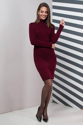 Жіноча сукня  приталена Basic (марсала), фото 2