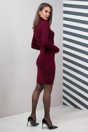 Женское платье приталенное Basic марсала, фото 2