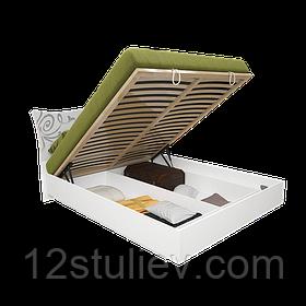 Кровать Богема белая 180*200 с подъемным механизмом и ламелями
