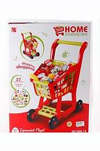 Тележка- супермаркет 668-14-5 с продуктами красная