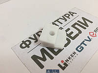 Стеклодержатель Пластиковый прижимной Белый