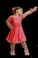 Рейтинговое платье для девочек танцевальное оранж