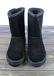 Женские зимние сапоги угги черные замшевые Sopra, фото 2