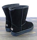 Женские зимние сапоги угги черные замшевые Sopra, фото 3