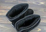 Женские зимние сапоги угги черные замшевые Sopra, фото 4