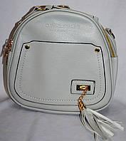 Женский серый рюкзак-сумка из искусственной кожи 23*22 см, фото 1