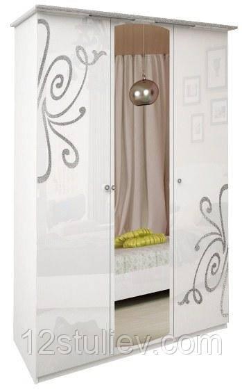 Шафа Богема біла 3ДВ з дзеркалами