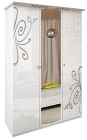 Шкаф Богема белая 3ДВ с зеркалами