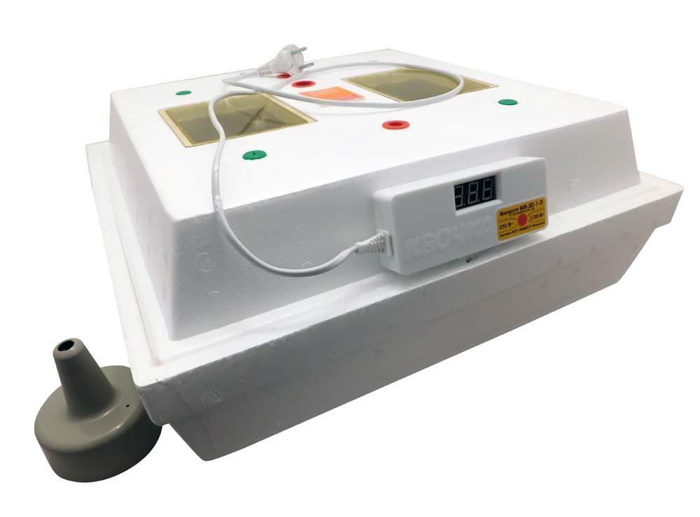 Электронный Цифровой Инкубатор Квочка МИ-30-1-Э на 70 яиц с перекатом яиц