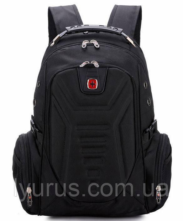 Вместительный рюкзак SwissGear Wenger, свисгир. Черный. + Дождевик. 35L / s7611 black