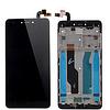 Дисплей (екран) для Xiaomi Redmi Note 4 Snapdragon + тачскрін, чорний, з передньою панеллю
