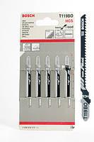 Пилка для лобзика Bosch T 119 BO, HCS 5 шт/упак.