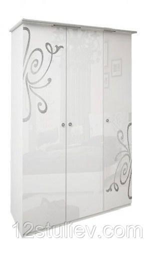 Шафа Богема біла 3ДВ без дзеркал