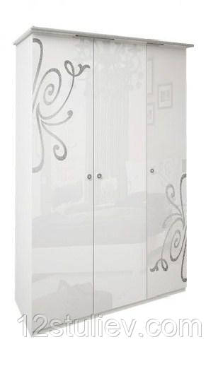 Шкаф Богема белая 3ДВ без зеркал