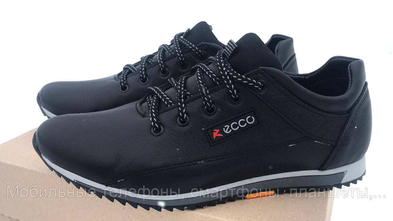 Кроссовки Ecco экко мужские кожаные черные 40 d71a71ec30f02