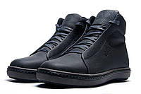 Мужские кожаные зимние ботинки Ecco Winter Boots коричневые синие черные 40 .41. 42. 43. 44. 45