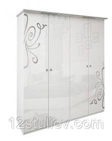 Шкаф Богема белая 4ДВ без зеркал