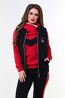 Женский спортивный костюм тройка теплый (3 расцветки) Р5631864, фото 1