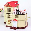 Большой домик Happy Family 012-10 Животные флоксовые (аналог Sylvanian Families) Светится люстра, фото 3