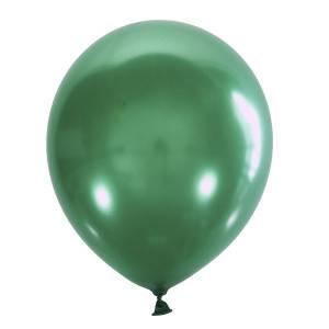 "Шар 5"" (12 см) Мексика металлик 028 GREEN (зеленый), фото 2"