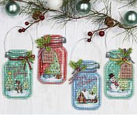 Christmas Jar Ornaments Рождественские баночки DIMENSIONS