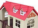 Большой домик Happy Family 012-10 Животные флоксовые (аналог Sylvanian Families) Светится люстра, фото 5