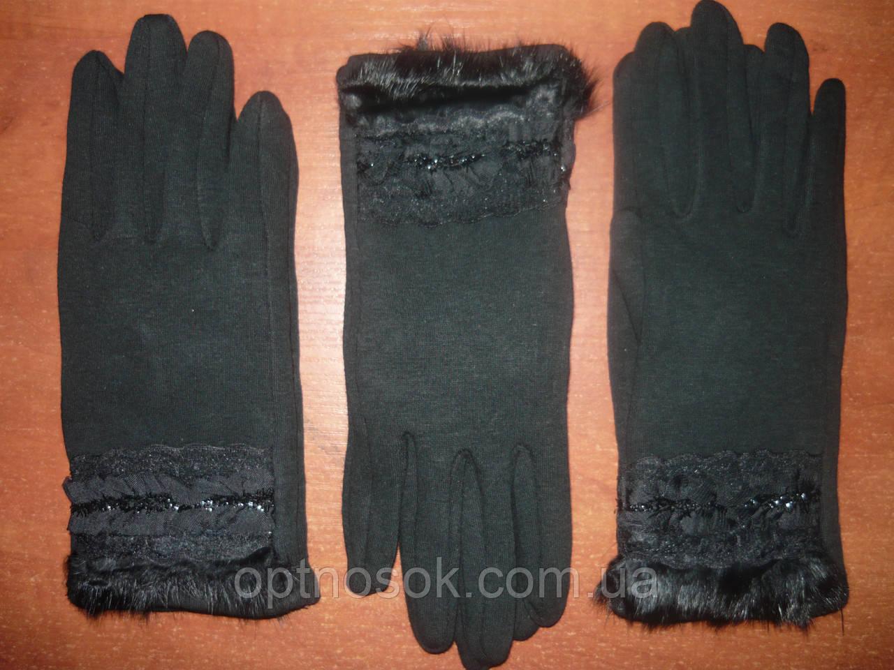 Жіночі рукавички Корона з начосом. Бамбук. р. М.