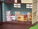 Большой домик Happy Family 012-10 Животные флоксовые (аналог Sylvanian Families) Светится люстра, фото 6