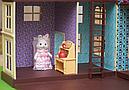 Большой домик Happy Family 012-10 Животные флоксовые (аналог Sylvanian Families) Светится люстра, фото 7