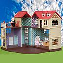 Большой домик Happy Family 012-10 Животные флоксовые (аналог Sylvanian Families) Светится люстра, фото 4