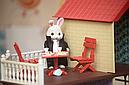 Большой домик Happy Family 012-10 Животные флоксовые (аналог Sylvanian Families) Светится люстра, фото 8