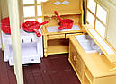 Большой домик Happy Family 012-10 Животные флоксовые (аналог Sylvanian Families) Светится люстра, фото 9