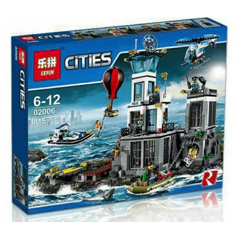 """Констурктор """"Остров тюрьма"""" Lepin 02006 815 деталей Cities лего"""