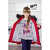 Модная зимняя куртка пуховик для девочки на подстежке меховой, фото 7