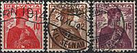 Швейцария 1909 Sc#164-166 п/с