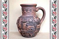 Глиняная крынка, посуда из глины, сувениры