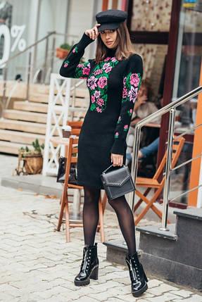 Вязаное платье женское Рябина, фото 2