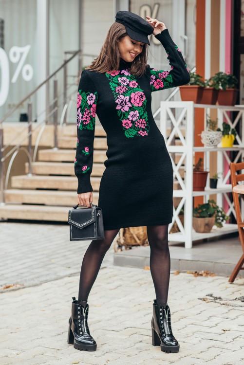 Вязаное платье женское Рябина