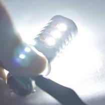 Светодиодная автомобильная лампа SLP LED с цоколем 1157(P21/5W)(BAY15D) 22-2835 жёлтый/белый, фото 3