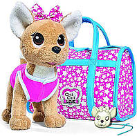 ОРИГИНАЛ Собачка Фешн Чи Чи Лав Звезда с сумочкой и светящимся подвесом, Simba Toys Chi Chi Love, 5893115