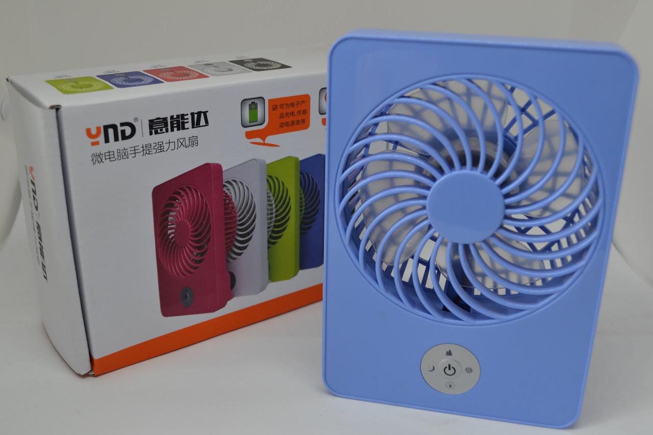 Вентилятор настольный USB WN361-365 с аккумулятором