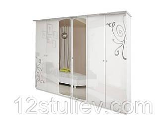 Шкаф Богема белая 6ДВ с зеркалами