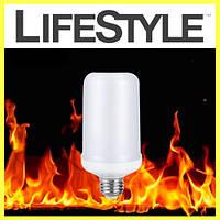 Светодиодная лампа имитация огня Flame Effect LED Bulb